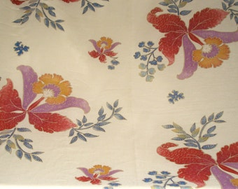 Vintage 1970's Concord Floral Print Fabric Remnant 3 yds