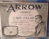 The Arrow Addison Collar Original Advertisment