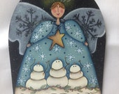 Winter Angel Plaque