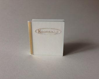 Vintage 1950s Book Ring Box - Keepsake Proposal - Wedding Engagement 1960s