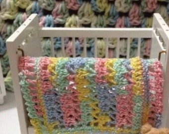 Crocheted Miniature Dollhouse Blanket