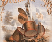 Civil War Piano Music Drums and Trumpets or A Parade in Broadway by F.B.Helmsmuller,  1862