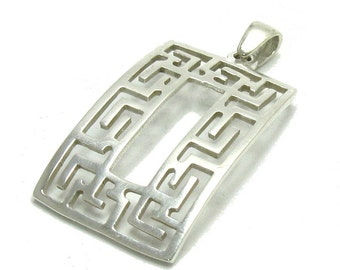 PE000991 Sterling Silver Pendant Solid 925 Meander