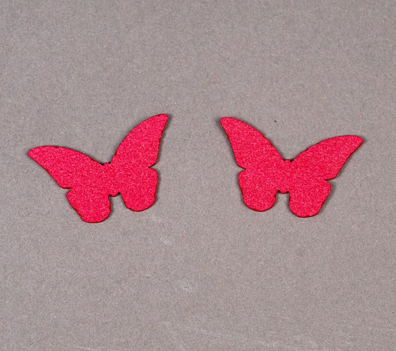 Laser cut ultrasuede butterfly for beading and bead