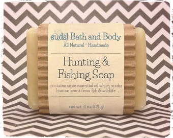 Hunting & Fishing Soap - Men's Soap, Natural Soap, Hunting Soap, Fishing Soap, Anise Soap