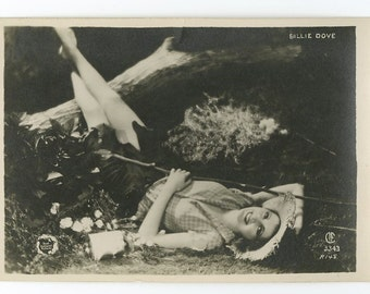 Billie Dove - Silent Film Actress - Vintage Silver Print Postcard
