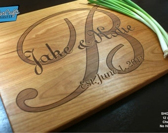Personalized Cutting Board, Engraved Cutting Board, Personalized Wedding Gift, Housewarming Gift, Anniversary Gift