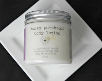 Honey Patchouli Body Lotion, Vegan Lotion, Organic Lotion