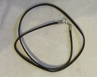 Suede Leather String Dark Brown, Made in China
