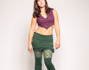 Dark Green Lace Ruffle Pants skirt NOT included