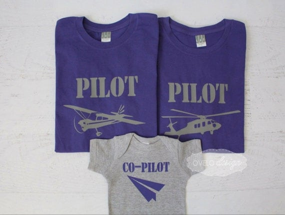 Pilot Co-pilot Family Personalized Pick your Aviation and color combo Paper Airplane