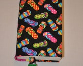 Fabric Book Cover--    Ready for a Holiday