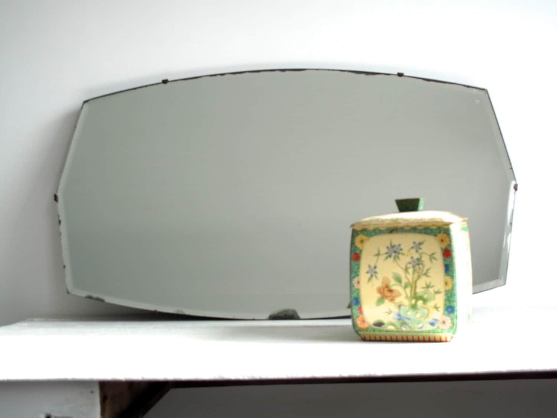 Vintage specchio senza cornice specchio da di snapshotvintage for Specchio a muro senza cornice