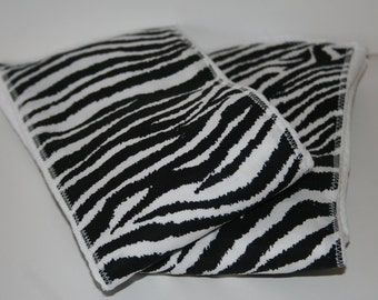 Burp Cloth/Burp Rag Baby Cotton Diaper with Black and White Zebra Print (1)
