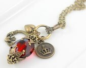 Promise Me Your Heart Cluster Charm Necklace
