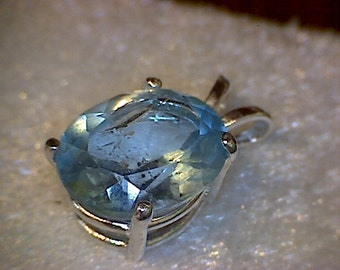 Beautiful Blue Topaz Pendant