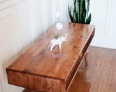"Mid Century Coffee Table Solid Wood - MADE TO ORDER 36""-54"""