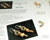 """Tutorial for """"Cleo's Serpent Hoops"""" Drop Earrings"""