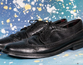 Black Wingtip Dress Shoes Size 11D