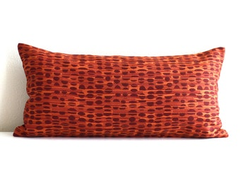 Lumbar Pillow - 8x16 - Petite Lumbar - Orange Pillow - Decorative Lumbar - Throw Pillow Cover - Oblong