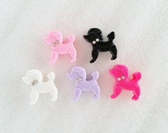 5pcs - Pretty Poodle Dog Mix Decoden Cabochon (22mm) AN10009