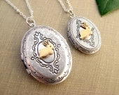 Bunny locket necklace set, Mother daughter necklaces,Silver locket pendant layer,Set of 2,3,4,5,6 necklaces Mom of 2,3,4,5 Christmas gift