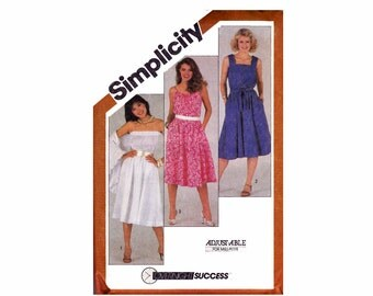 Sundress Strapless Dress and Shawl Size 16 Bust 38 Simplicity 5498 1980s 80s UNCUT Vintage Sewing Pattern Overnight success