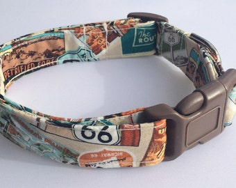 Route 66 Dog Collar Size XS, S, M, L