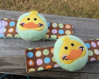 Sweet  Duck Wrist Rattle for infants and babies