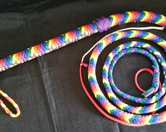 LGBTQ Pride Rainbow Bull Whip - Custom, Choose Your Size
