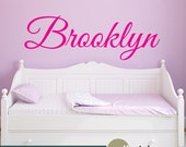 Personalized Childrens Wall Decal - Girls Name Wall Decal - Nursery Wall Decal Decor - Vinyl Wall Decal - WD0375