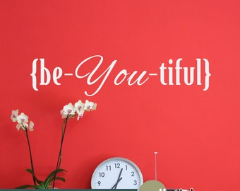 Beautiful Wall Decal - Inspiring Wall Words for your Bedroom, Dressing Room, Bathroom, or anywhere you would like to be inspired - WD0359