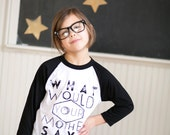 Mother- 3/4 sleeves - girls graphic baseball tee - 2t to 6