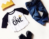 Wild One tee- Child t-shirt - tee - raglan - toddler, baby, infant - American Apparel