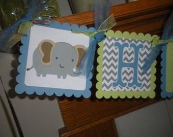 Elephant Lion Giraffe Monkey Happy Birthday Banner Safari Birthday Banner