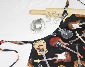 Acoustic and Electric Guitars Child Apron