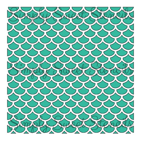 fish scale stencil by simplysweetstencils on etsy