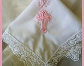 Baptism Gifts for Girls | Girls Baptism Gifts | Personalized Baptism Gift | Baptism Handkerchief for Christening