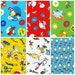 Dr Seuss Bundle, Celebration, Bright Grinch Cat In the Hat, Green Red Yellow Primary Colors, Fabric Yardage 6 HALF YARDS