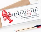 Crawfish and Cake Birthday Party Invitations - Birthday Crawfish Boil Party Invitations