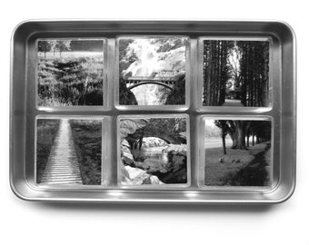 Magnets, Black and White ,Bridges and Pathways, Set of 6