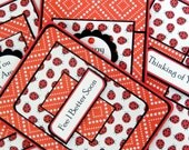 Blank Notecard Set of 4- Different Cards with Matching Embellished Envelopes: Ladybugs