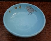 Turquoise bird bowl- perfect for cereal, berries, icecream...