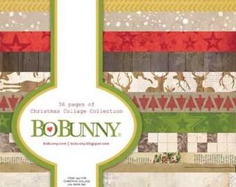 """Bo Bunny's Christmas Collage 6""""x6"""" pad"""