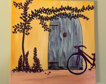 Spanish Door and Red Bicycle