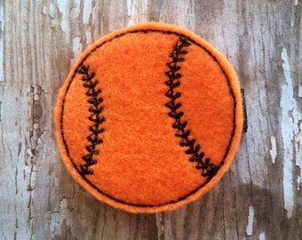 Orange Black Felt Baseball Felt Hair Clip Babies-Toddlers-Girls