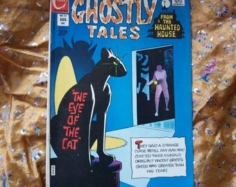 Ghostly Tales No 97 Charlton Comics 1972 Ditko art Nazi Ghost Witch Haunted House Cat Devil Satan