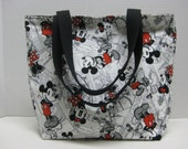 Mickey And Minnie Medium Size tote