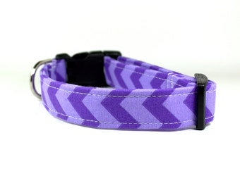 Purple Chevron Dog Collar | Purple Dog Collar | Girl Dog Collar | Wedding Dog Collar