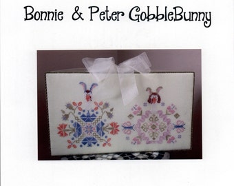 Aury TM: Bonnie & Peter GobbleBunny - A Gobble Couple Cross Stitch Pattern